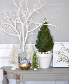 love the framed snowflake Christmas Room, Beach Christmas, Christmas Mantels, Noel Christmas, Christmas Themes, White Christmas, Elegant Christmas Decor, Modern Christmas, Holiday Decor