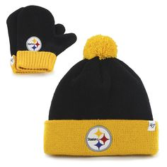 Pittsburgh Steelers Bam Bam Set Black 47 Brand INFANT Hat 847e2febe