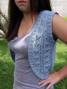 Phrety's Cabled Vest - Free Knitting Pattern