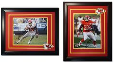 Spencer Ware. Kansas City Chiefs. 11x14 photos. Different layouts with the same style framing.