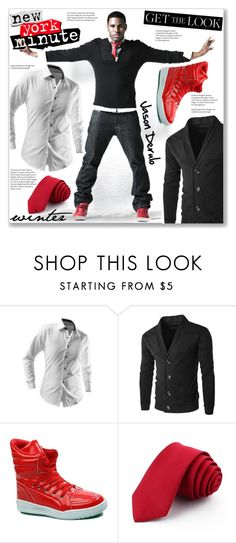 """""""Celebrity Outfit :: Men Street Style"""" by jecakns ❤ liked on Polyvore featuring men's fashion and menswear"""