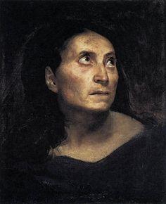 Eugène Delacroix - A Mad Woman, Oil on canvas, cm Ferdinand, Delacroix Paintings, Eugène Delacroix, Carl Spitzweg, Romanticism Artists, Antoine Bourdelle, Mad Women, Plastic Art, Best Portraits