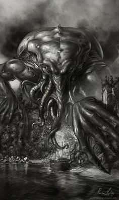 call of cthulhu Hp Lovecraft, Lovecraft Cthulhu, Art Cthulhu, Call Of Cthulhu, Necronomicon Lovecraft, Gravure Photo, Lovecraftian Horror, Theme Tattoo, Eldritch Horror