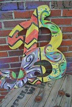Wood letters by MINDYandBEVERLY on Etsy, $25.00