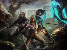 Fanart Of Witcher Wild Hunt Geralt Yen And Ciri Now In Game They Are Finally All Here This Is Work For Dark Horse CD Projekt RED C