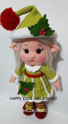 Mignon petit Miss Elf-Amigurumi Crochet Pattern-PDF par BalimOrgu - Pin Crochet Amigurumi, Crochet Bear, Crochet Doll Pattern, Amigurumi Patterns, Amigurumi Doll, Doll Patterns, Scarf Crochet, Afghan Patterns, Knitting Patterns