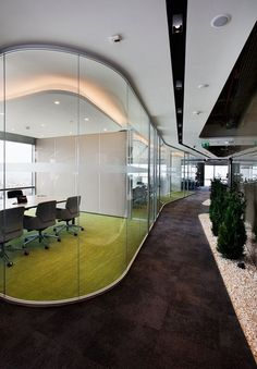 Cigna Finance Offices – Istanbul, Turkey. The spaces giving the impression of being in nature for the employees and guests: