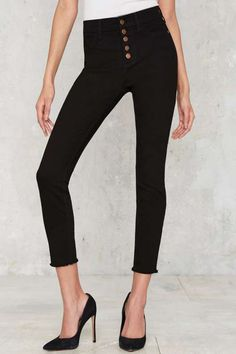 High-Rise Wide Shut Skinny Jeans - What's New
