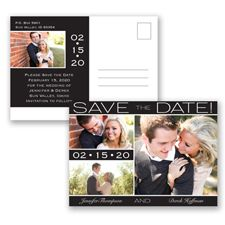 Color Bands Photo | Show off all your amazing engagement photos with this save the date by Invitations by David's Bridal