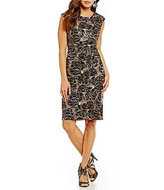 Vince Camuto Floral Nude Overlay Dress #Dillards