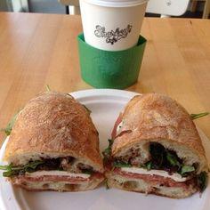 Sharkey's Cafe - New York, NY, United States. The Godmother on ciabatta bread.