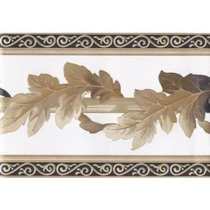"York Wallcoverings White Black Gold Leaf Column Molding Wall 8""x15' @ sears"