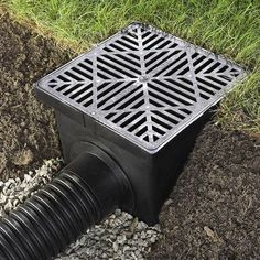 Drainage Connect stocks high-quality catch basins with a wide variety of grates and fittings to ensure compatibility with your project and it's aesthetics. Call Drainage Connect's team of experts at Gutter Drainage, Backyard Drainage, Landscape Drainage, Backyard Landscaping, Drainage Ditch, Patio Drainage Ideas, Landscaping Ideas, Drainage Terrain, Backyard Projects