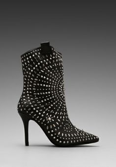 JEFFREY CAMPBELL Embellished Ankle boot in Black/Silver -