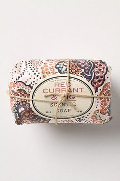 belina soap and red currant & fig (figs, rhubarb, red currant and pear meet coconut, toffee and raspberry in a fresh and creamy scent) #anthropologie