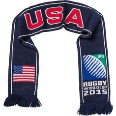 USA - Rugby WC 2015 Scarf Ideal Gift for all Rugby Fans Scarf Dimensions x approx Brand New with Tags - Header Card Official Licensed Irb Rugby, Rugby World Cup, Header, Fans, Brand New, Usa, Gift, Shopping, Fan