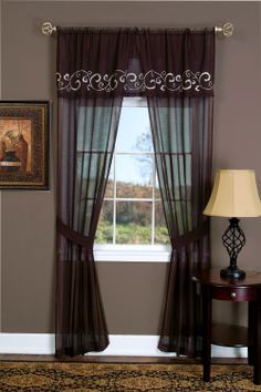"""Lauren is a Complete One Rod Window Treatment by Achim. """"Window in a Bag"""" Set - Style # 1629.   #Rod #Pocket #Curtains"""