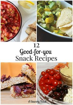 12 Good-for-you Snack Recipes. Snacking doesn't have to be your downfall anymore! These healthy ideas will help you stay on track.