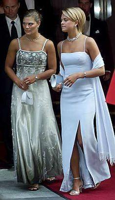 Royal Sisters...Princess Victoria and Princess Madeleine of Sweden.