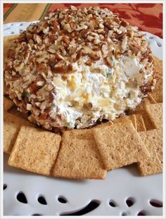 Jam Hands: Pineapple Cheese Ball.  This is an old recipe. I add McCormick Season Salt to the recipe.  It gives it a more flavor.