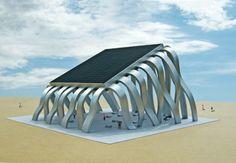 Michael Jantzen, Solar Eclipse Pavilion, solar energy, LED Screen, sun controlled LED display,