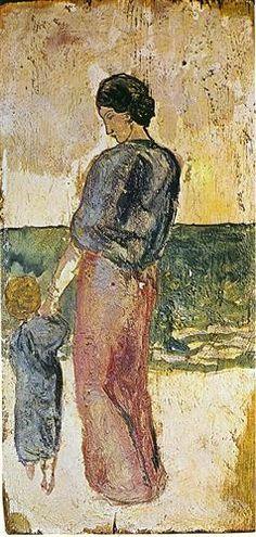 "Pablo Picasso (1881-1973), ""Mother and Child on the Beach"" (""Mere et Enfant sur le Rivage"")"