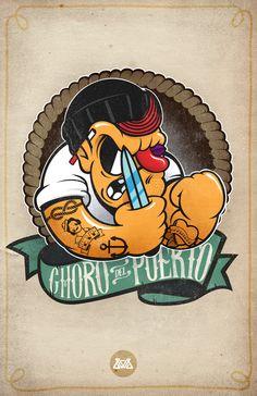 Choro del Puerto! | illustration by Gabo Romero, via Behance