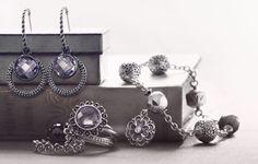 pandora earrings Pandora 30 years of history Pandora Charms, Pandora Jewelry, Jewelry Box, Jewellery, Blue Paint Colors, Amethyst, Fashion Accessories, Charmed, Drop Earrings