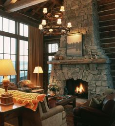 Fall, Nature and Plaid | Fireplaces, Nature and Cabin