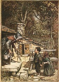 Hansel and Gretel is a fairy tale of German origin, recorded by the Brothers Grimm in 1812. The tale has been adapted to various media, most notably the opera Hänsel und Gretel (1893) by Engelbert Humperdinck and a stop-motion animated feature film based on the opera. Artwork by Arthur Rackham, 1909