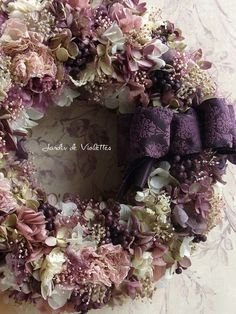 Lease of violet color Xmas Wreaths, Door Wreaths, Hydrangea Wreath, Floral Wreath, Flower Wreath Funeral, Shabby Chic Wreath, Deco Floral, Summer Wreath, Diy Wreath