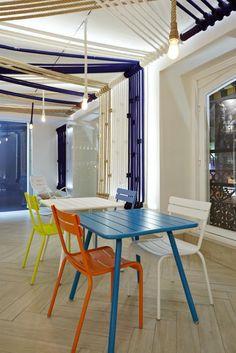 Grupo Rodilla, ha abierto el Lounge Estrella Damm. El nuevo espacio ha sido diseñado por  Teresa Sapey #restaurant #interiordesign