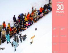 Uniqlo Calendar for Winter in Japan