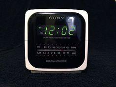 Vintage Sony Dream Machine FM/AM Digital Clock Radio ICF-C122 Tested & Working