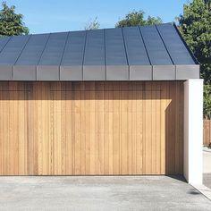 Cedar Garage Door, Garage Doors, Concrete Walls, Cladding, Don't Forget, Building A House, Third, Shots, Instagram Images