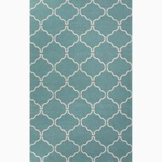 Handmade Moroccan Pattern Blue/ Ivory Wool Area Rug (8x10) | Overstock.com Shopping - Great Deals on JRCPL 7x9 - 10x14 Rugs