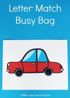 Free Printable Car Letter Match Busy Bag for Kids!
