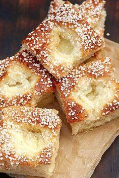 philadelfiabullar_i_långpanna. Cookie Recipes, Dessert Recipes, Swedish Recipes, Bagan, Beignets, Food Cakes, Bread Baking, I Love Food, Sweet Tooth