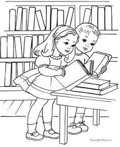 Free printable school color page