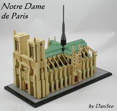 Lego Mocs Micro ~ Notre Dame de Paris (LEGO Architecture style)   by Dan_Sto