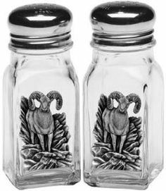 Bighorn Sheep Salt and Pepper Shakers by Heritage Pewter. $21.95. Salt and Pepper Shakers