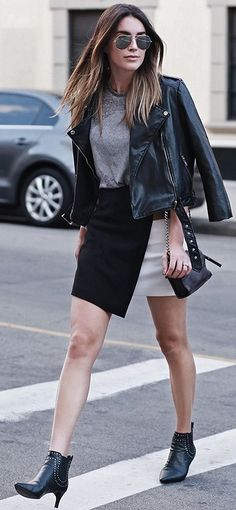 Thrifts And Threads Bolor Blocking Skirt Fall Streetstyle Inspo #Fashionistas