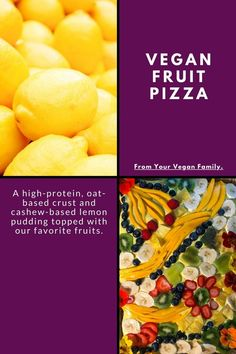 Vegan Fruit Pizza Plant-Based Dessert Recipe: Your Vegan Family Vegan Dessert Recipes, Vegan Breakfast Recipes, Plant Based Diet, Plant Based Recipes, Vegan Junk Food, Healthy Treats, Healthy Recipes, Summer Desserts, Original Recipe