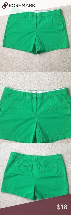 Crown & Ivy Bright Green Shorts Crown & Ivy Bright Green Shorts in size 16. Used but still good condition. Crown & Ivy Shorts