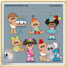 Baby Clipart Chubbies First Birthday 2015 by MagicmakerScraps