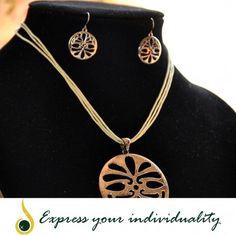 www.jawaherexpress.com  Rope & Metal Necklace
