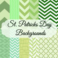 free St. Patrick's Day inspired backgrounds