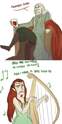Tauriel justs wants to go on a date with Kili.