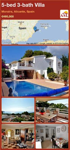 5-bed 3-bath Villa in Moraira, Alicante, Spain ►€495,000 #PropertyForSaleInSpain
