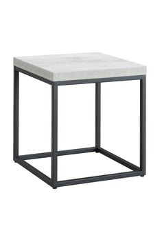 Criterion Chrysler End Table - Concrete look/ Black frame - Criterion Furniture Up to 57% Off - Onceit